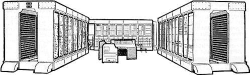 Stock illustration - cartoon computer